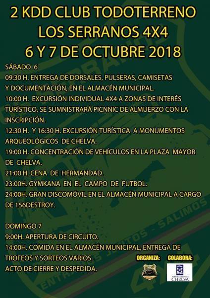 2ª KDD LOS SERRANOS 4X4 -CHELVA 2018