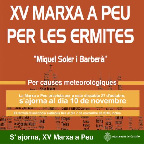 MARXA A PEU PER LES ERMITES DE CASTELLÓ