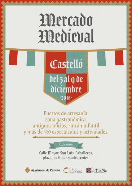 Mercado medieval en Castellón 2018