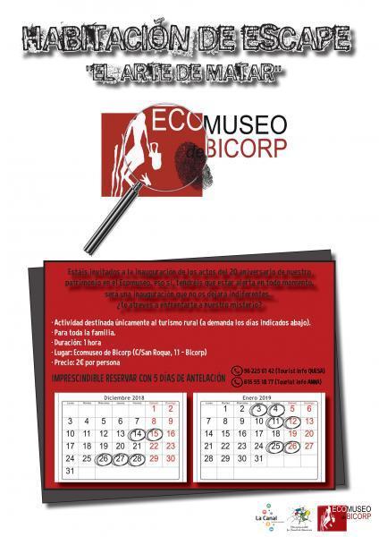 Habitación de escape en el Ecomuseo de Bicorp