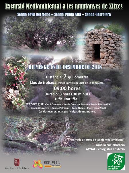 Excursión Medioambiental a las montañas de Xilxes
