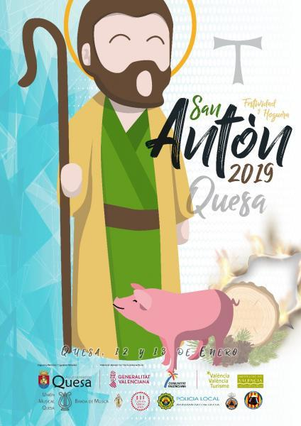 Festividad San Antón 2019 en Quesa