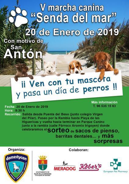 "V Marcha canina ""Senda del mar"" en Pilar de la Horadada"