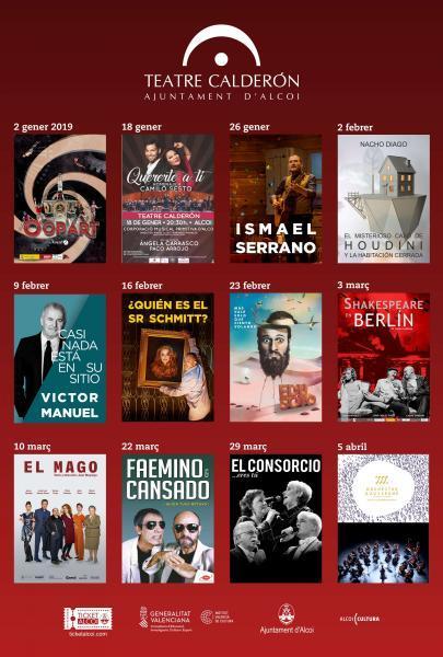 Programación Teatre Calderón
