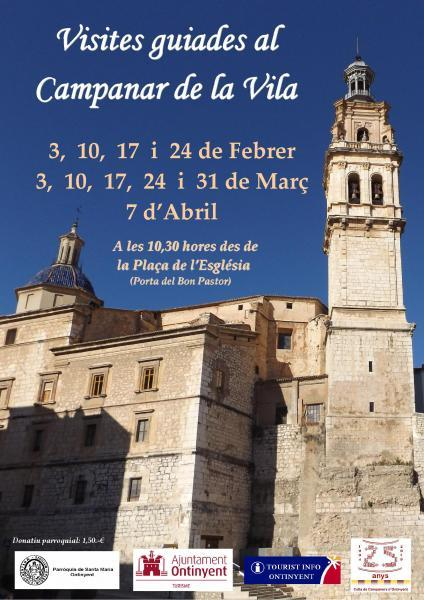 "Guided Tour to the bell tower of ""La Vila""- February, March and April"