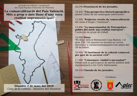 La comarcalització del País Valencià. Jornades de reflexió i pensament.