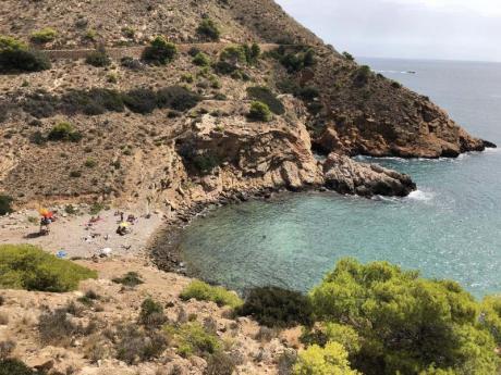 Calas nudistas en el área costera de Benidorm