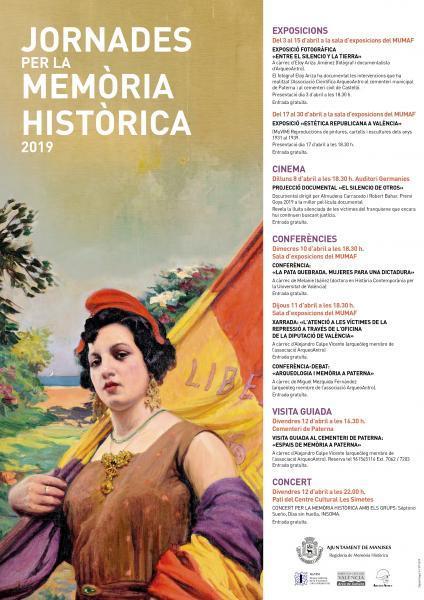 Jornadas para la Recuperación de la Memoria Histórica. Manises 2019