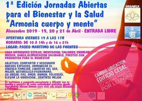 """I Jornadas Abiertas para el Bienestar y la Salud """"Armonia Cuerpo y Mente"""""""