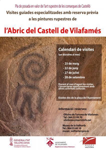 Visites guiades pintures rupestres de l' abric del castell de Vilafamés