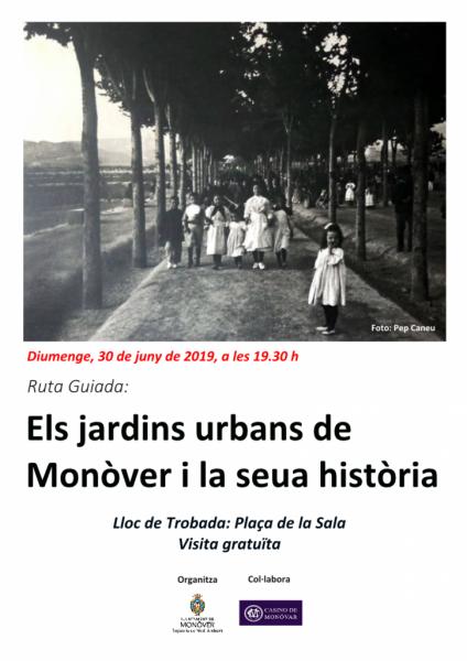 Los jardines urbanos de Monóvar y su historia