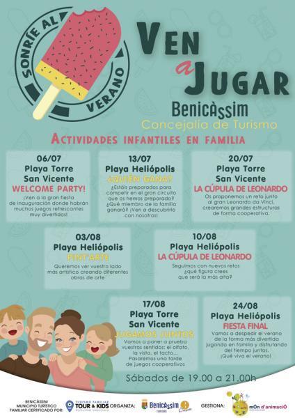 """Ven a jugar"" - Actividades animación infantil temporada 2019 Benicàssim"