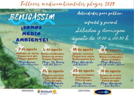 Talleres Medioambientales en playas - Agosto 2019