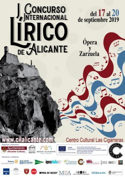 I Concurso Internacional Lírico de Alicante. Categorías: Ópera Y Zarzuela 2019