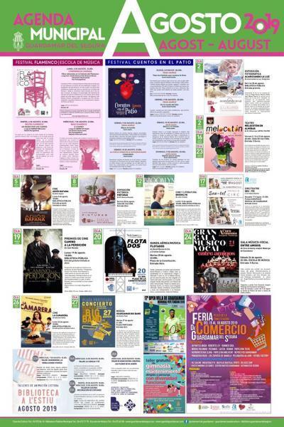 Agenda Cultural Guardamar Agosto 2019