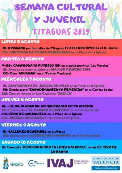 SEMANA CULTURAL Y JUVENIL TITAGUAS 2019