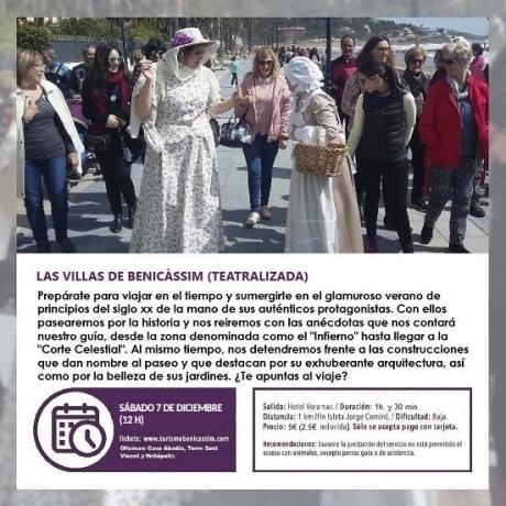 Programa oficial de visitas guiadas: Las Villas de Benicàssim (Visita Teatralizada)