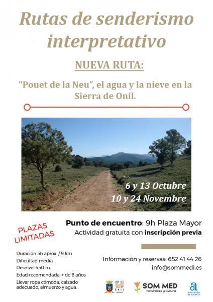 """Ruta de senderismo interpretativo: """"Pouet de la Neu"""", el agua y la nieve a la Sierra de Onil"""