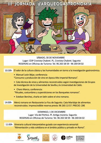 III Jornadas Arqueo-Gastronomía. Sagunto 2019