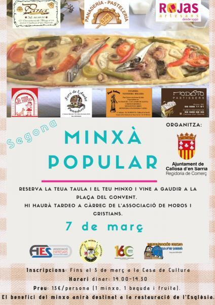 II MINXÀ POPULAR - CALLOSA D'EN SARRIÀ  7-03-2020