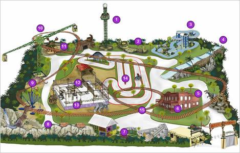 Mapa De Marina D Or.Parque Aventura D Or