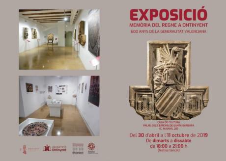 """Exposición """"Memoria del Reino en Ontinyent: 600 años de la Generalitat Valenciana"""""""